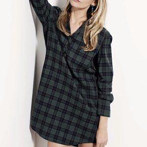 Harlow high-low Plaid Dress